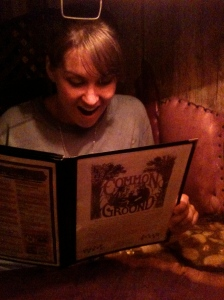 Steph amazed at the Common Ground homemade selection