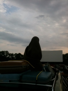 Edna had the best seat in the house at the Wellfleet Drive-In