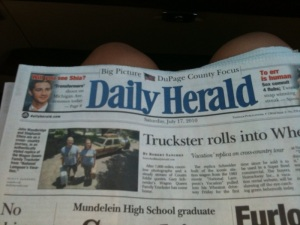 Truckster in the Daily Herald